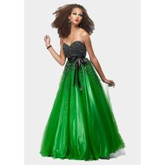 prom/homecoming dress | Formal Green Ball Gown Tulle Prom Dresses 2013 h3jfa18
