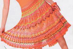 Verano falda de ganchillo