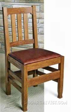 Mission Style Chair plans | Mission Furniture Plans | Pinterest