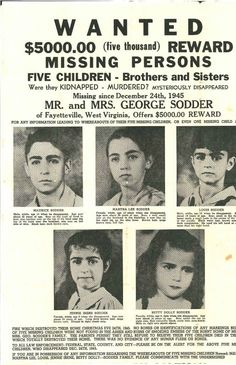 A fascinating story about 5 West Virginia children who mysteriously vanished on Christmas Eve, 1945.
