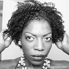Braid out on short natural hair. Type 4b
