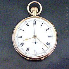 Gold Deck Fob Watch, Early 1900s. Vintage Pocket Watch, Deck, King, Watches, Chain, Gold, Accessories, Wristwatches, Front Porch