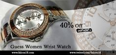 Flaunt your smart choice and good taste with this trendy looking Guess Women Wrist Watch.  The silver and copper combination is going with the current trend! Order now to avail the straight 40% discount.  Click to buy:- http://www.falcon18.com/Guess-Women-Wrist-Watch-W15072L2.htm?1037413/WC11063867