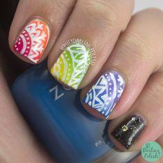 rainbow nails | Hey, Darling Polish