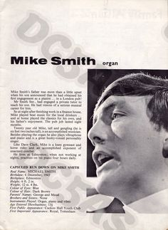 The Dave Clark Five, Mike Smith, Piano Player, London Pubs, British Invasion, The Beatles, Growing Up, Musicals, Bands