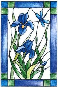 stained glass and iris - Bing Images