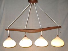 Orig. 50er Designer – Deckenlampe Teakholz Stilnovo Ufo Sputnik Space Age Eames in   eBay