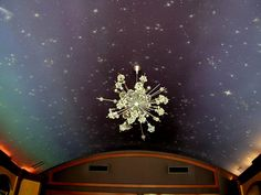 night sky ceilings with chandelier - Google Search