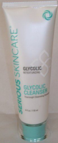 Serious Skincare Glycolic Retexturing Glycolic Cleanser Thorough Cleansing Formula 4 Fl Oz. / 118 Ml by Serious Skincare. $12.99. Serious Skincare Glycolic Retexturing Glycolic Cleanser Thorough Cleansing Formula 4 Fl Oz. / 118 Ml