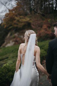 Moody Autumnal Romance: Áine & Slavik's Druids Glen Wedding Wedding Veils, Autumn Wedding, Backless, Dresses, Fashion, Bridal Veils, Vestidos, Moda, Fashion Styles