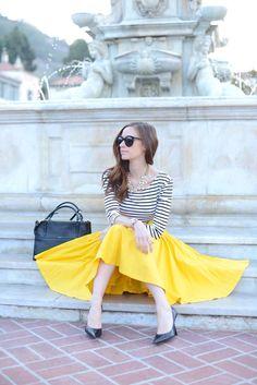Stripes. Yellow... Love! Perfect combo..