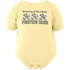 I would never let my child wear this- but he is 1/2 of @jowheels4 - who is a Notre Dame fan.