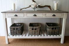 driftwood hall table
