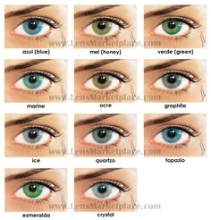 Solotica Hidrocor Color Contact Lenses |  Lens Marketplace #eye #color #contacts Brazilian Colored Contact Lenses
