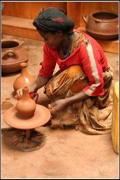 Ethiopian potter by Marco Di Leo, via Flickr