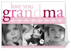 Love You Grandma Mother's Day Card