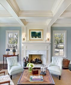 Cobbage Living Room - traditional - living room - charleston - by Structures Building Company