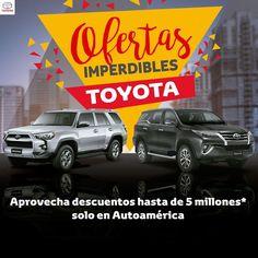 Este mes Compra tu Toyota SW4 y 4runner con descuento + kit de Accesorios http://ow.ly/U3lY30dHVBC
