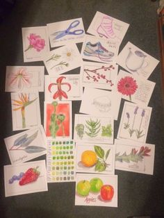 """Student work from my """"Sketching and Watercolor: Journal Style"""" online class."""