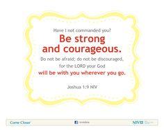 Joshua 1:9 NIV Bible Verse About Courage #NIVBible