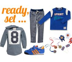 Boys' sporty olympics outfit