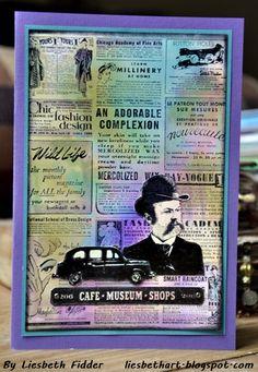 Gazette Background Stamp - Project Ideas