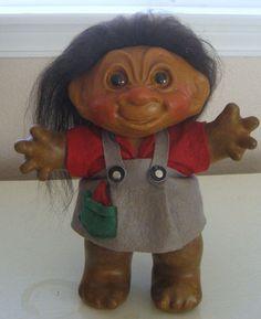 Extraordinary-RARE-Prototype-of-Dam-Lykketroll-1950s-Stuffed-Troll-Girl