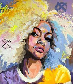 Kunst for Alle - Mobile African American Art, African Art, Black Art Painting, Afro Art, Arte Pop, Grafik Design, Portrait Art, Portraits, Art Plastique