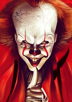 movie art 15 Most Outstanding Classic Movie Poster Remakes by Flore Maquin Horror Movie Posters, Classic Movie Posters, Horror Icons, Horror Movies, Clown Pennywise, Pennywise The Dancing Clown, Pennywise Poster, Gruseliger Clown, Creepy Clown