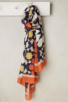 Riviera Scarf - anthropologie.com   If only it wasn't bloody polyester!
