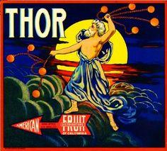 Los Angeles Thor Orange Citrus Crate Label Art Print | eBay