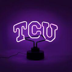 AES Optics Texas Christian University Neon Table Light