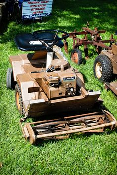 Old Riding Lawn Mower by DaKohlmeyer, via Flickr