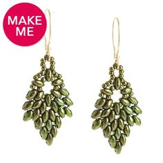 Glistening Oak Earrings | Fusion Beads Inspiration Gallery this is a free PDF