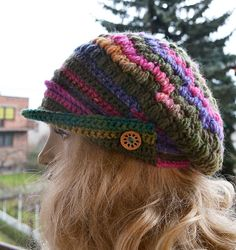 Knitted with 60% wool,40% acrylic colour ; mustard,pink,green,purple  cap; Head circumference: 56-60cm[22-23,5] as its very…