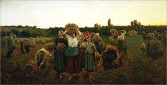 Le rappel des glaneuses - Jules Breton