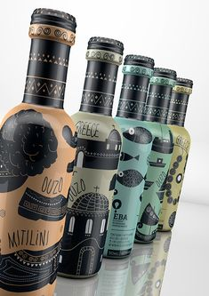 Taste of Greece on Packaging of the World - Creative Package Design Gallery Cool Packaging, Bottle Packaging, Brand Packaging, Bakery Branding, Web Design, Graphic Design Branding, Label Design, Communication Design, Design Graphique