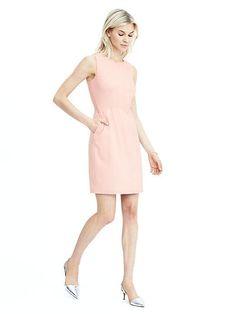 For career wear- pink shift dress