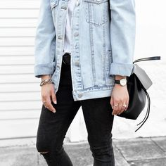 28 Denim Jackets You Can Try This Fall/Winter 2017 - Style Spacez