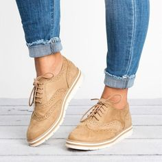 2018 New Rubber Brogue Shoes Woman Platform Oxfords British Style Creepers Cut-Outs Flat Casual Women Shoes 5 Colors for Girls Oxford Shoes Outfit, Women Oxford Shoes, Casual Shoes, Shoes Women, Winter Shoes For Women, Women's Shoes, Golf Shoes, Dance Shoes, Shoes For Girls