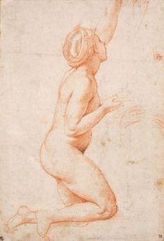 Raphael (Raffaello Santi), A Kneeling Nude Woman