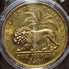 East India Company 1835 two mohurs gold coin