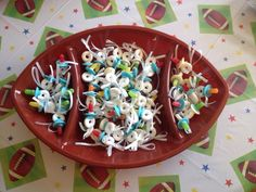 Pacifier treats and football theme