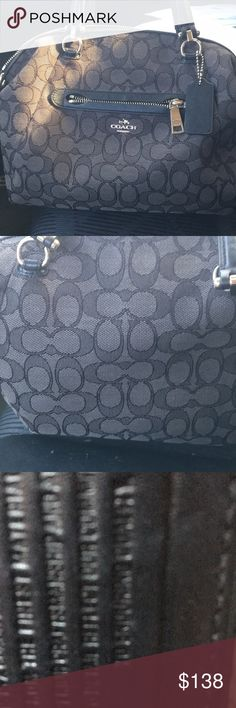 Coach Mesh bag with silver fixtures Regular size coach handbag beautiful shape gently used silver fixtures Coach Bags Satchels