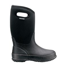 Kids' CLASSIC Black Insulated Boots - 52065 - Waterproof Boots & Shoes for Men, Women & Kids - Bogs