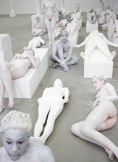 """""""VB64"""" (2009), by Vanessa Beecroft.  Deitch Projects, Long Island City Deitch Projects , NYC."""