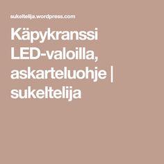 Käpykranssi LED-valoilla, askarteluohje   sukeltelija