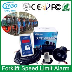 Forklift Speed Limit Alarm from SABO Electronic Factory www.sabo-speed.com
