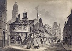 View of St Mary's Wynd from Cowgate, before it was replaced by St Mary's Street…
