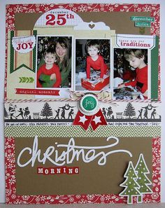 #papercraft #scrapbook #layout Elle's Studio: Celebrate December with Daniela Dobson